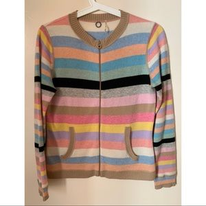 One Girl Who • M • 100% Cashmere Striped Sweater